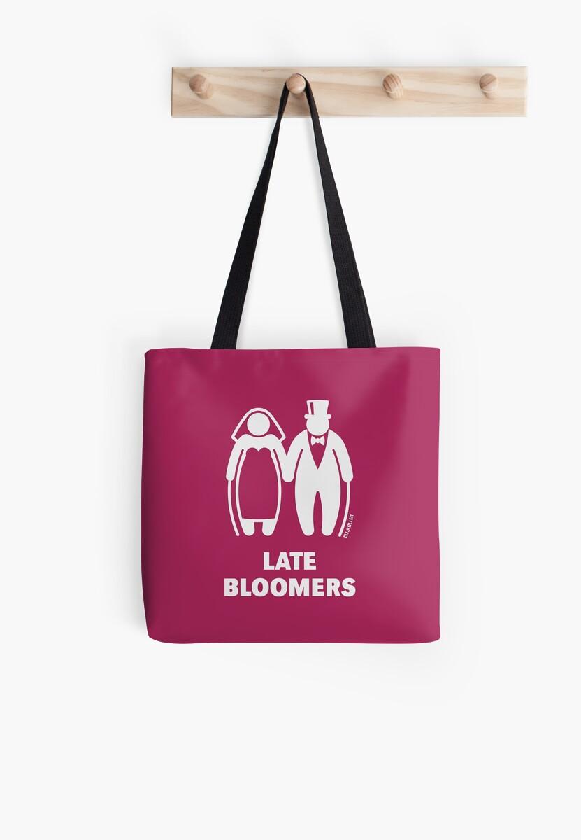 Bolsas de tela «Bloomers tardíos (pareja madura / boda / mejor edad ...