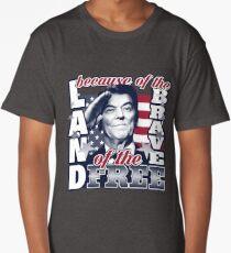 Land of the Free - Reagan Salute Long T-Shirt