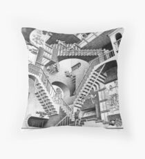 MC Escher Throw Pillow