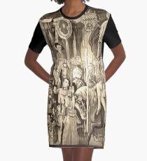 Vintage Circus  Graphic T-Shirt Dress