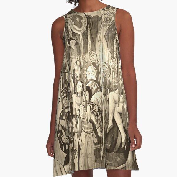 Vintage Circus  A-Line Dress