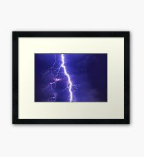 Electric Flash in Sky Framed Print