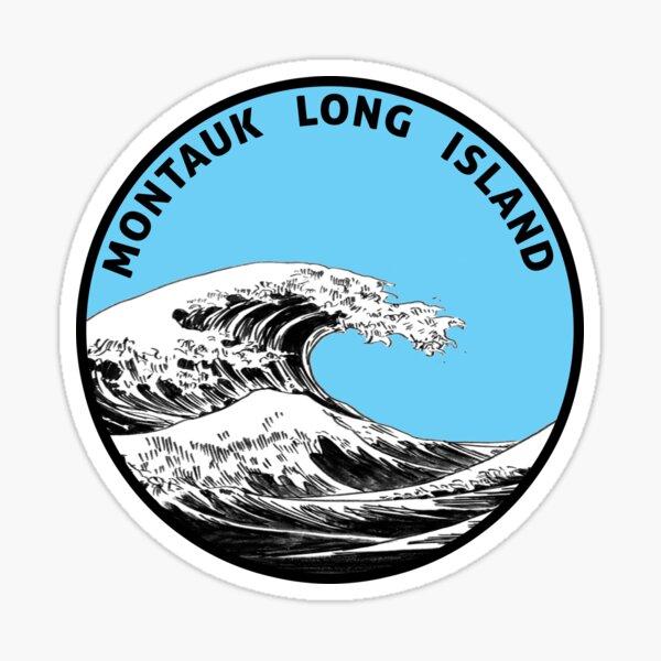 MONTAUK LONG ISLAND NEW YORK SURFING SURF SURFER Sticker