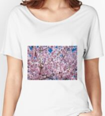 Japanese Cherry Flowers Women's Relaxed Fit T-Shirt