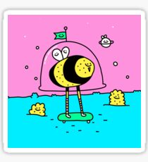 Mr Space Bee Sticker