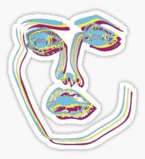 Disclosure face logo Sticker