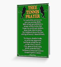 Tennis greeting cards redbubble thee tennis prayer greeting card m4hsunfo