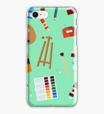 Tools and Materials for Creativity and Painting Seamless Pattern iPhone Case/Skin