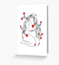 Fleurs&cheveux Greeting Card