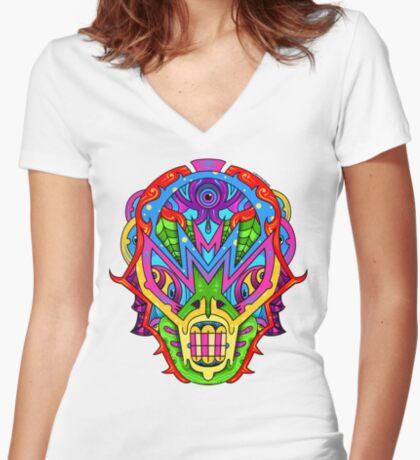 Mista Monsta! Women's Fitted V-Neck T-Shirt