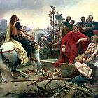 Vercingetorix Throws Down His Arms At The Feet Of Julius Caesar by Igor Drondin