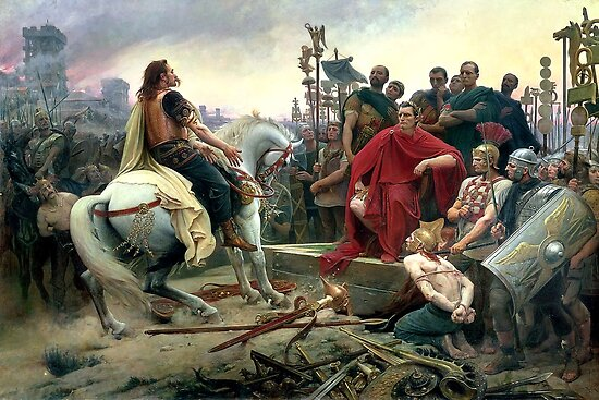 Vercingetorix Throws Down His Arms At The Feet Of Julius Caesar by Igor Drondin