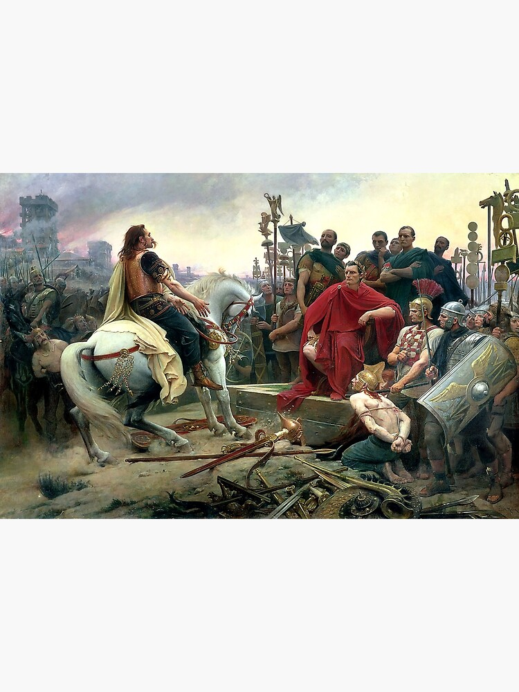 Vercingetorix Throws Down His Arms At The Feet Of Julius Caesar by Goshadron