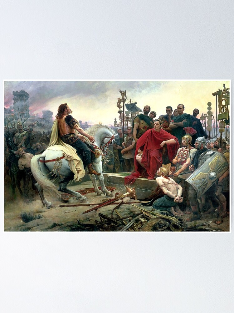 Alternate view of Vercingetorix Throws Down His Arms At The Feet Of Julius Caesar Poster