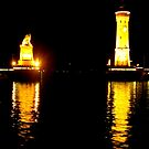 Lindau Harbour at Night by ©The Creative  Minds