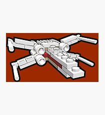 X-wing in bricks Photographic Print