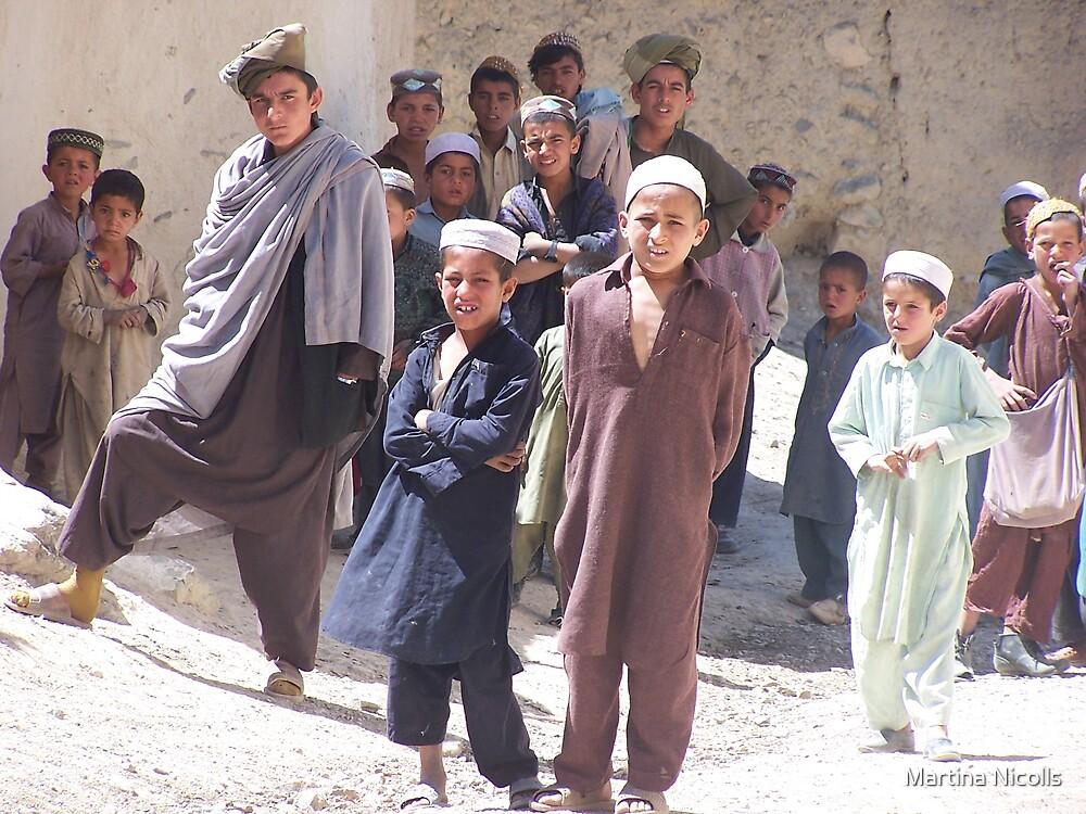 Boys of Gardez, Afghanistan by Martina Nicolls