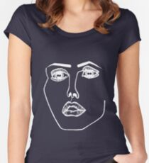 Disclosure face logo Women's Fitted Scoop T-Shirt