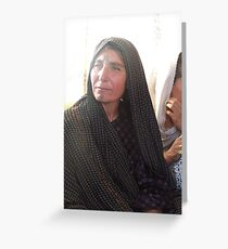 Afghan Woman with Tattoos Greeting Card