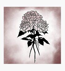Tattoo Style Rose Trio Photographic Print