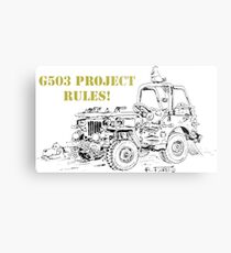 G503 jeep project rules! Metal Print