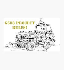 G503 jeep project rules! Photographic Print