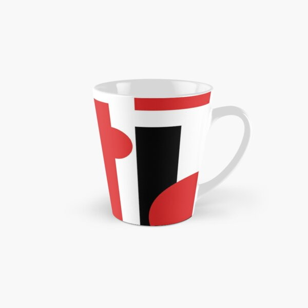 Red And Black Geometric Shapes Tall Mug