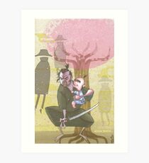 Lone Wolf and Cub Art Print