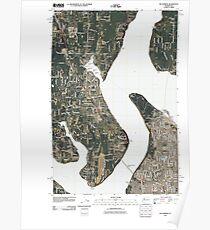 USGS Topo Map Washington State WA Gig Harbor 20110422 TM Poster