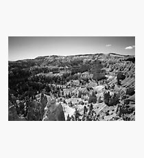 Black and White Canyon - Travel Photography, Inspiration, Mysterious Photographic Print