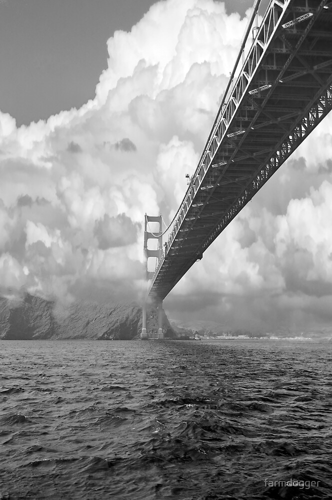 Bridge through clouds by farmdogger