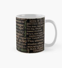 Shakespeare Insults Dark - Revised Edition (by incognita) Mug