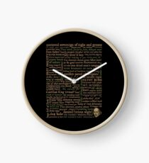 Shakespeare Insults Dark - Revised Edition (by incognita) Clock