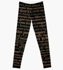 Shakespeare Insults Dark - Revised Edition (by incognita) Leggings