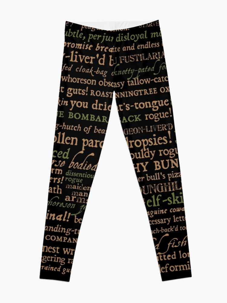 Alternate view of Shakespeare Insults Dark - Revised Edition (by incognita) Leggings