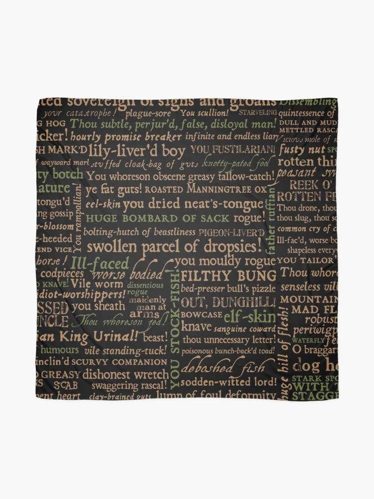 Alternate view of Shakespeare Insults Dark - Revised Edition (by incognita) Scarf
