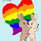 Skip and Pip (aka the Pride Bunnies) Pride 2017 by Catherine Dair