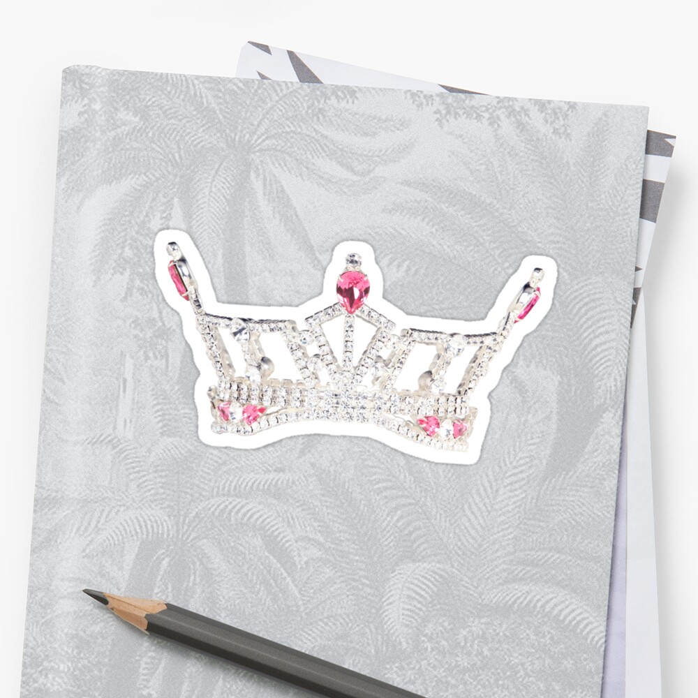 Quot Miss America S Outstanding Teen Crown Quot Stickers By