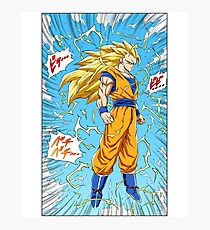 Dragon Ball Z - Goku Super Saiyan 3 Manga Photographic Print