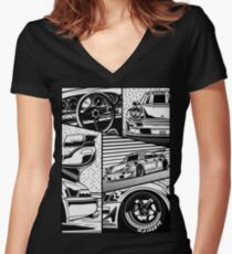 RWB 964. Details Women's Fitted V-Neck T-Shirt