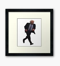 Running to End Capitalism Framed Print
