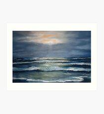"""Lahinch by Moonlight"" Art Print"