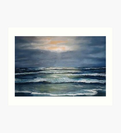 """Lahinch by Moonlight"" Art Print"