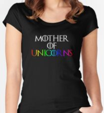 Mother of Unicorns Women's Fitted Scoop T-Shirt