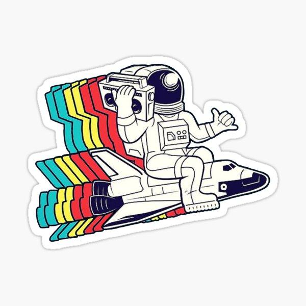 Spaceman Boombox Sticker