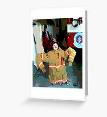 Wanna Be A Fireman Greeting Card
