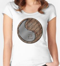 Rabbit Yin Earth Women's Fitted Scoop T-Shirt