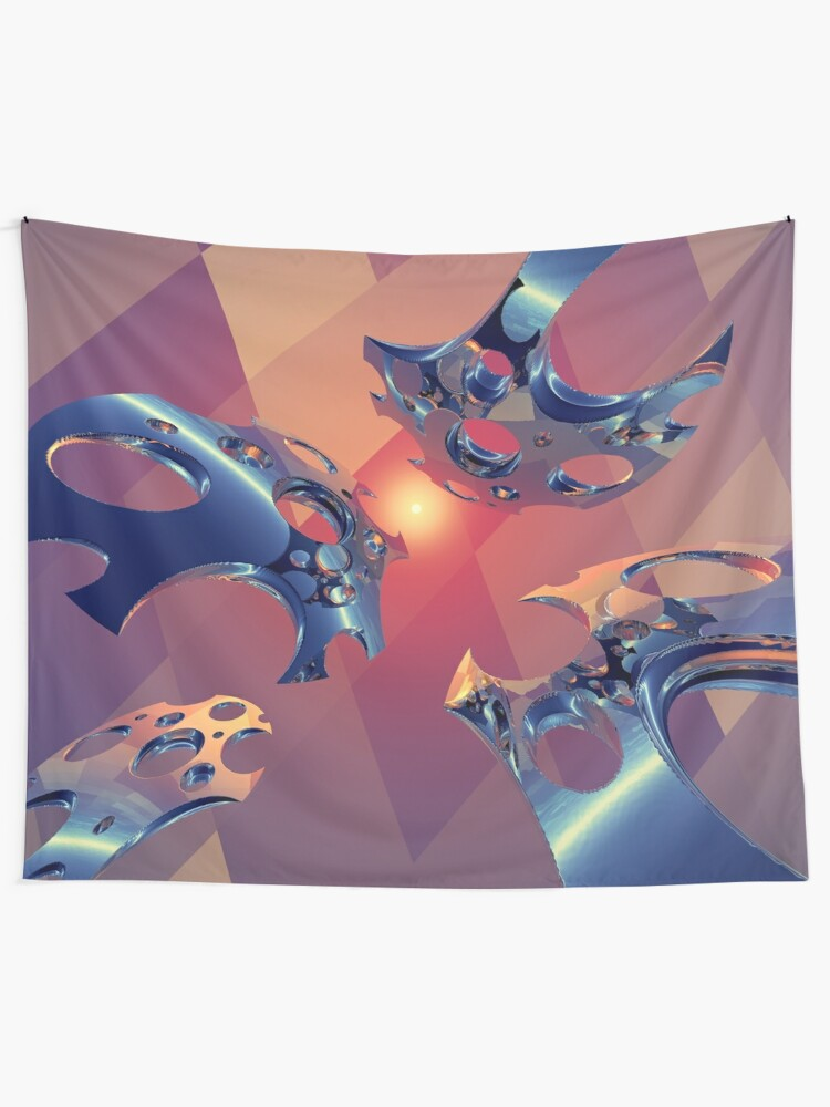 Alternate view of Reflections of Light Flight Tapestry