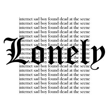 """Lonely"" Repetitive Text by mercenaery"