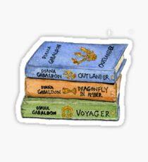 Outlander Book Stack Watercolor Sticker